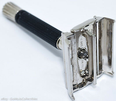 Vintage Gillette Black Handle Super Speed Double Edge Safety Razor - 1972 S2