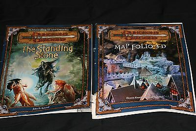 Advanced Dungeon Dragons Modules Map Folio 3-D Plus The Standing Stone