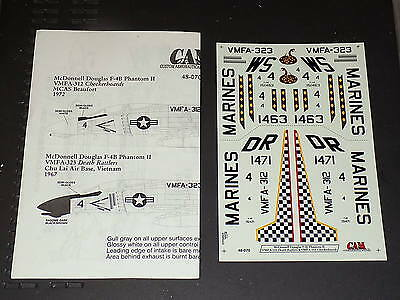 CAM Decals 48070 1/48 F-4B Phantom II VMFA-312 & VMFA-323