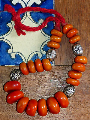 Vintage Moroccan Berber Tribal Ethnic Chunky Resin Bead Necklace