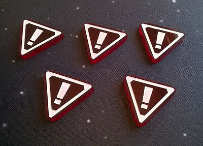 X-Wing Miniatures compatible, acrylic stress tokens x 5