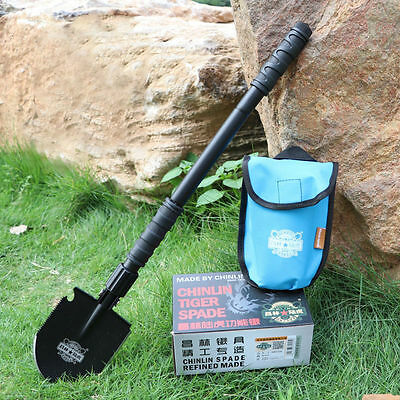 New Military Folding Utility Shovel Outdoor Camp Self Driving Survival Spade TOO