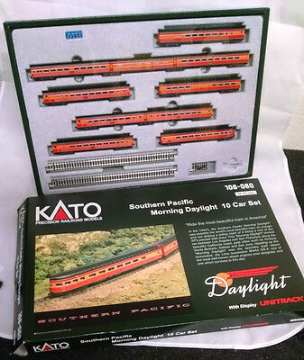 Kato N Scale Southern Pacific Morning Daylight 10 Passenger Car Set