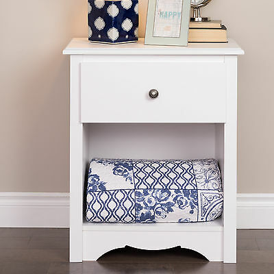Sybil Tall White 1 Drawer Nightstand Andover Mills Free Shipping High Quality