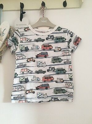 Boys Moter Vehicle Print T Shirt From Next Age 18-24 Months