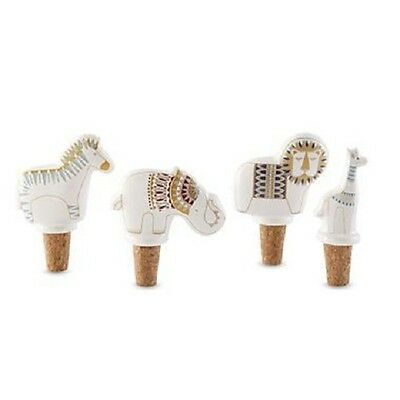 JONATHAN ADLER HAPPY CHIC Midcentury Modern Mod ANIMAL WINE BOTTLE STOPPER x 4