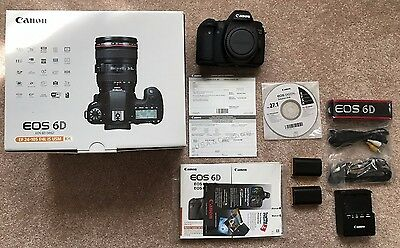 Canon EOS 6D 20.2MP Digital SLR Camera body - all accessories w/ extra battery