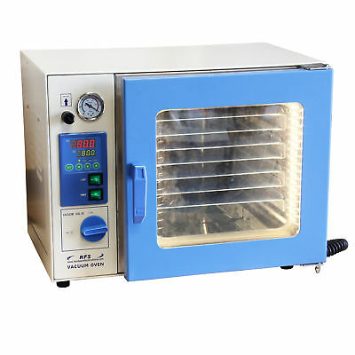 """HFS(R) 0.9 Cu Ft. Vacuum Oven , 12X12X11"""" Stainless Chamber Led Lights 7 Shelves"""