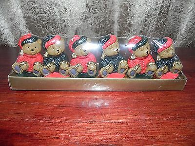 Abbott Collection China Wax Christmas Teddy Bear Novelty Candle Set