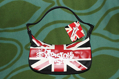 Sex Pistols black vinyl bag Sid Vicious Rotten tote purse new tag nwt UK flag