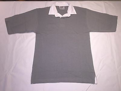 Clearance New Mens Front Row FR3 Short sleeve Rugby shirt. Slate x 33. N9.