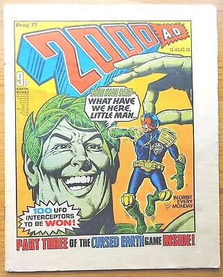2000AD COMIC Prog No. 77 from 1978 BANNED ISSUE!