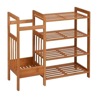 Entry 4-Tier Shoe Rack Honey Can Do Free Shipping High Quality