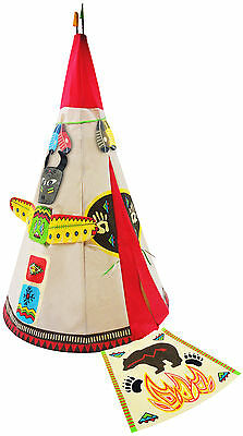 Round Indian Play Teepee Checkey Limited Free Shipping High Quality