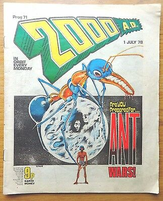 2000AD COMIC Prog No. 71 from 1978 BANNED ISSUE!