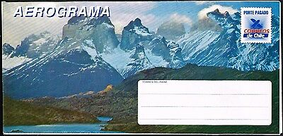 2662 Chile 1988 Ps Stationery Air Letter Aerogramme Unused Torres Del Paine
