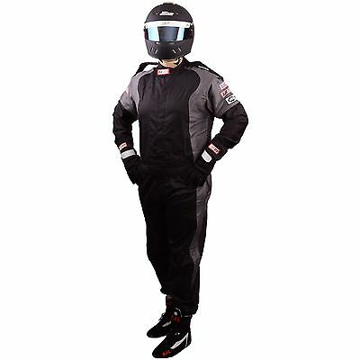 Scca Fire Suit 1 Piece Elite Sfi 3-2A/1 Black / Gray Medium Rjs Racing