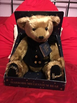 New Harrods Millennium Bear In Box.  Free Postage