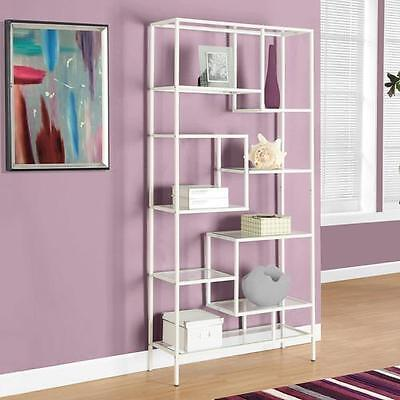 "72"" Etagere Bookcase Monarch Specialties Inc. Free Shipping High Quality"