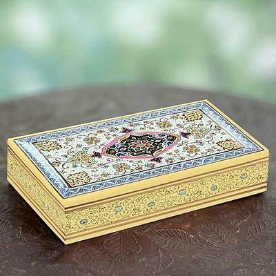 Decorative Mughal Floral Artisan Crafted Papier Mache Box Novica Free Shipping