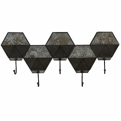 Hexagon Pocket Wall Hook Coat Rack Household Essentials Free Shipping