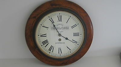 Vintage Cobb & Co Australia Wooden Wall Clock- Works Perfectly Pick Up Available
