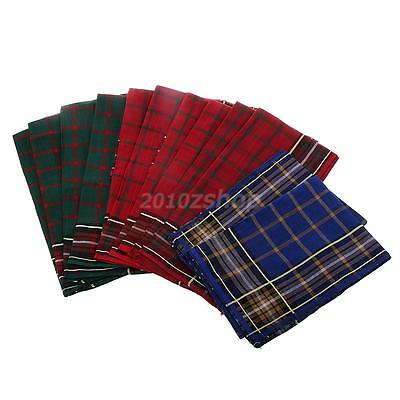 12pcs New Mens HANDKERCHIEFS 100% Cotton Pocket Hanky Handkerchief