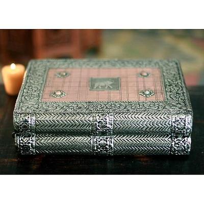 Hand-Crafted Repousse Brass Jewellery Box Novica Free Shipping High Quality
