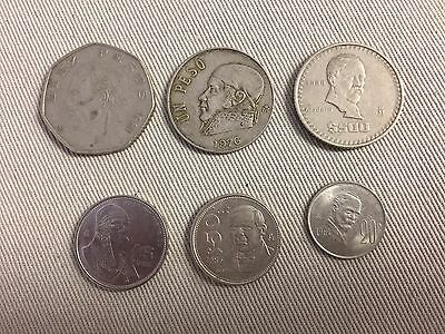Mexican Coins Total Of 6