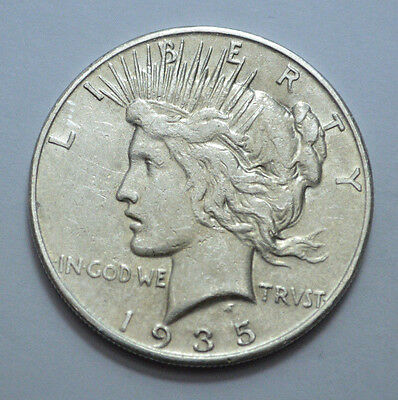 Scarce 1935-S  Peace Dollar RARE Key Date Silver Coin, Polished, NO RESERVE !!!