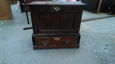 oak coffer bach small box with drawer welsh antique 21 ich tall x 24