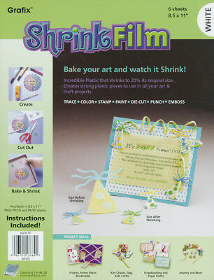 "Shrink Film 8.5""X11"" 6/Pkg KSF6-W"