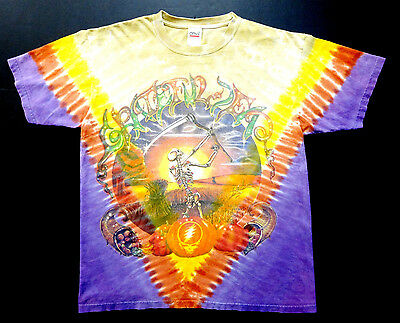 Grateful Dead Shirt T Shirt Vintage 1994 Fall Tour Autumn Pumpkin Tie Dye GDM L