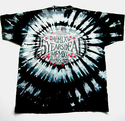 Grateful Dead Shirt T Shirt Vintage 1990 25 Years Dead Tour Tie Dye Black GDM XL
