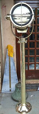 Nautical Brass Single Spot Light With Stand Lot Of 1 Pic