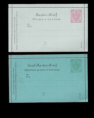 Boznia / Herzegovina 2x unused pre-paid stuck together reply cards see scans x2