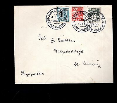 Denmark 1935 cover see scans x2