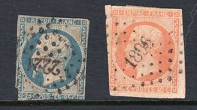 France 2x early imperf stamps see scans x2