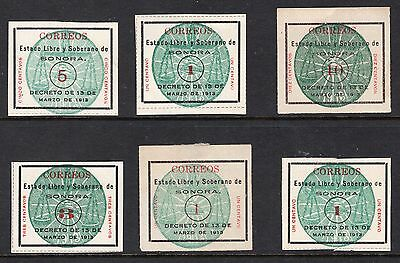 Mexico strange group of stamps from 1913 see scans x2