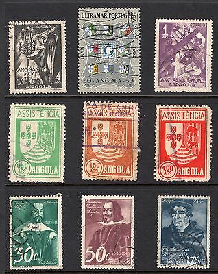 Portugal Angolia early group of stamps see scans x2