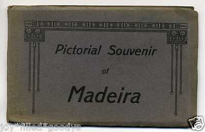 1910s ISLAND OF MADEIRA PORTUGAL POSTCARD BOOKLET 12 POSTCARDS