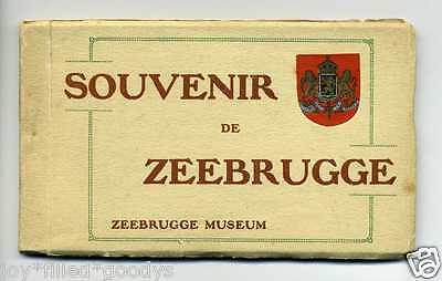 1910s WW1 ERA ZEEBRUGG BELGIUM POSTCARD BOOKLET 17 POSTCARDS