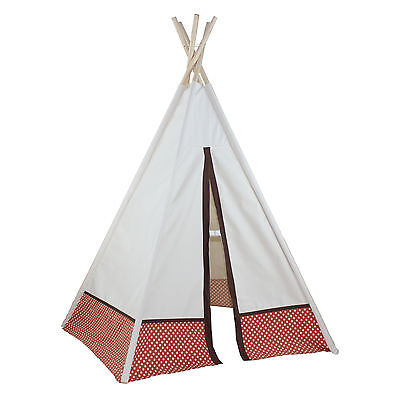 Hideaway Polka Dot 5 Panel 72' Play Teepee Dexton Free Shipping High Quality