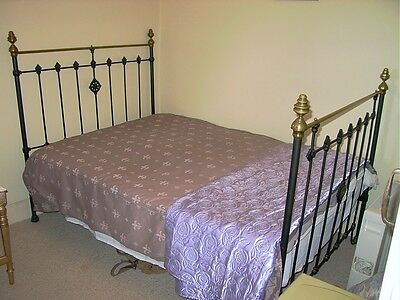 Antique Original Brass iron bed frame and base double