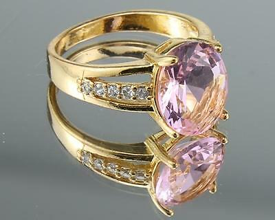 3.25 Carat Natural Pink Diamond  Solid 14kt Yellow Gold Rings  Size6.5