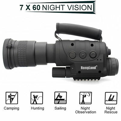 Legend Of Hunter Infrared Night Vision IR Monocular Telescopes CCD 7x60 Record