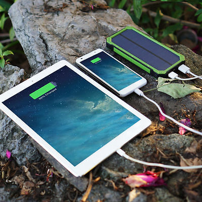 100000mAh 3 x USB Power Bank Portable External Battery Charger