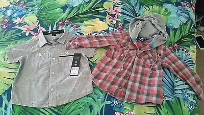 baby Boys surf shirt and hoodie from Billabong and Quicksilver. BNWT Sz 0 2