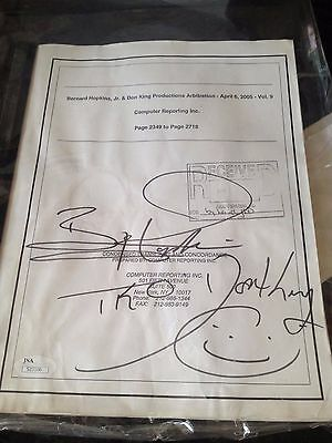Bernard Hopkins Autographed Lawsuit  Don King JSA 1/1 AUTO Vintage Boxing RARE