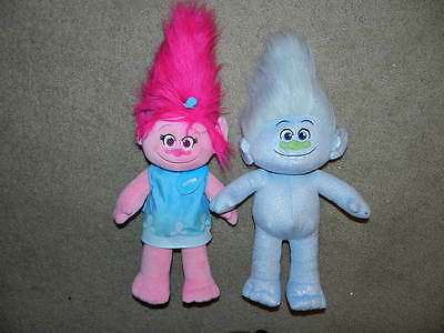 Build A Bear Dreamworks Trolls Lot Poppy with dress- Stuffed 2 Trolls